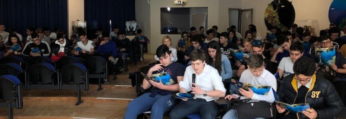 """Oggi in sede visita didattica di Marevivo con gli studenti della """"Caio Duilio"""" di Messina"""